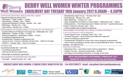 Derry Well Women courses January to April 2017
