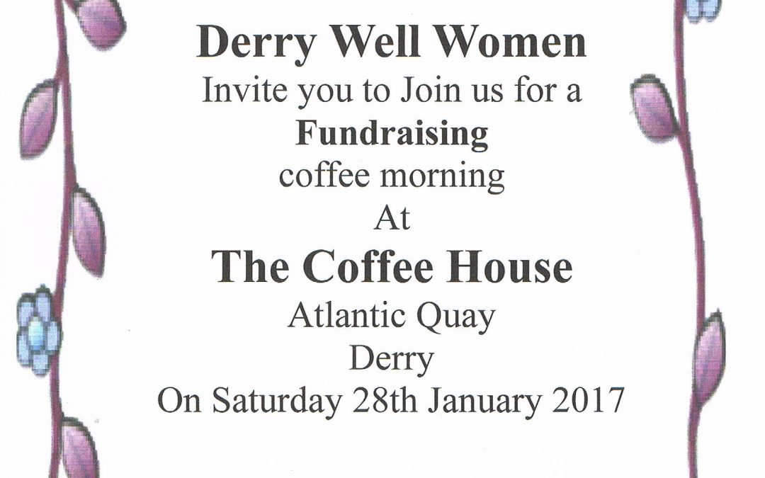 DWW Coffee Morning fundraiser on Saturday 28th January